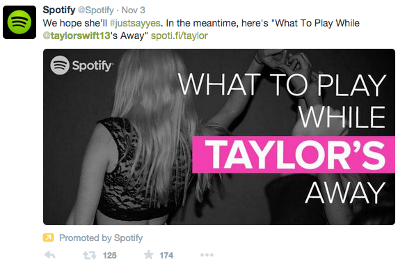 Spotify Clever Content Twitter