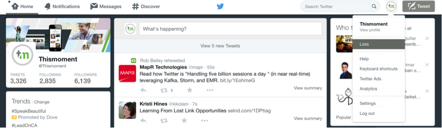 twitter lists to improve content marketing