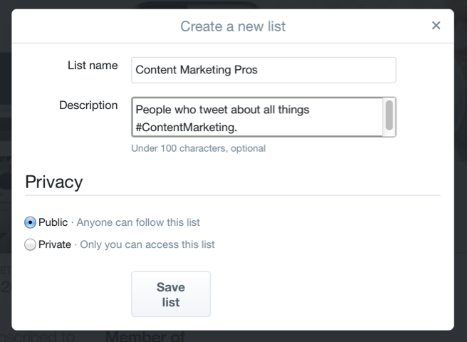 Twitter Lists to Improve Your Content Marketing